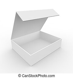 White empty box on an isolated background