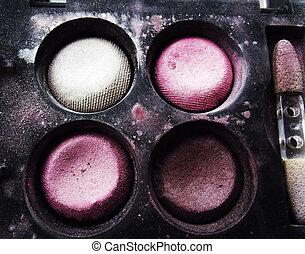 Colorful eye shadows
