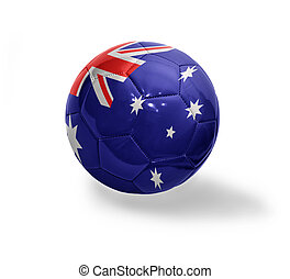 Australian Football - Football ball with the national flag...
