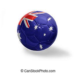 Australian Football - Football ball with the national flag...
