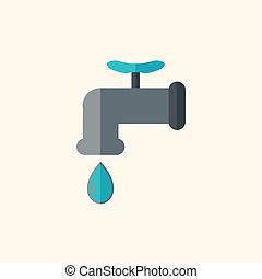 Drip Flat Icon - Drip. Ecology Icon. Flat Design. Vector EPS...
