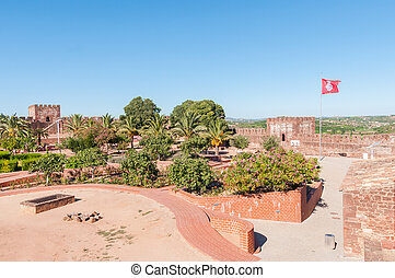 Ancient castle in Silves, one of the best preserved of the...