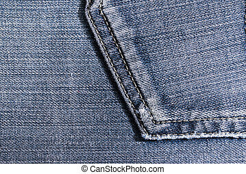 jeans - background of denim close-up finishes and decorative...