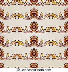 Pattern - Seamless abstract floral pattern in the form of...