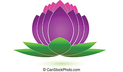 Lotus flower icon logo vector
