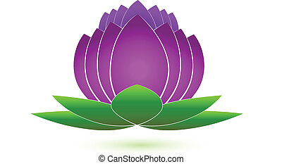 Lotus flower icon logo vector image application design
