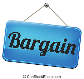 bargain - Sale promotion bargain label. Lowest price and...