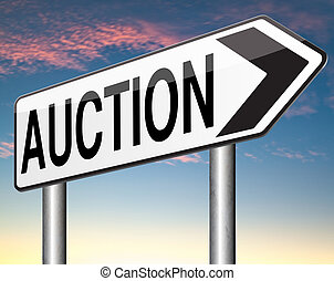 auction - Online auction icon. Selling and buying on the...
