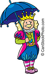 Fairy tale king - Children vector illustration of fairy tale...