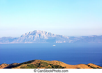 Landscape of North Africa from the Gibraltar Rock.