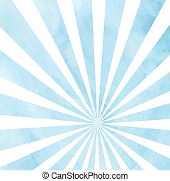 Soft blue watercolor rays for decorative background. Vector...