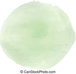 Soft green ink circle background for your design. Vector...