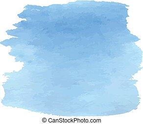 Sky blue watercolor design for background. Vector...
