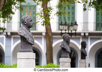 Panama City old casco viejo antiguo statue