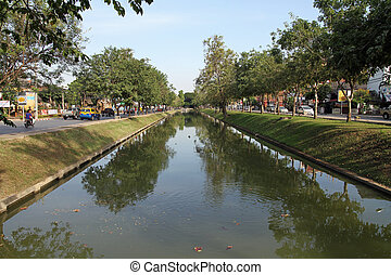 Moat in Chiang Mai, Thailand