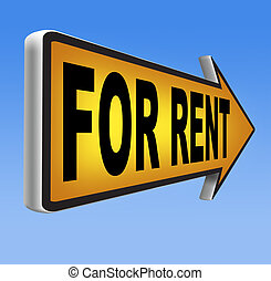 for rent - For rent sign, renting a house apartment or other...