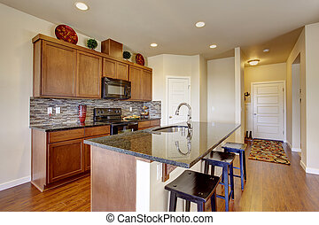 Kitchen room with island