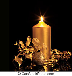 Golden Christmas Decorations - Golden christmas decorations...