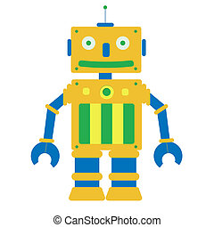 Toy robot in a white background Isolated