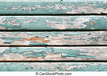 Old wooden texture with peeling paint - An old wooden wall...