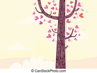 Tree of hearts - Some of trees aren\'t common trees. Some of...