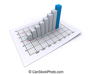busines graph - 3d analysis business chart company corporate...