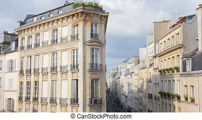 historic paris palace building - traditional building house...
