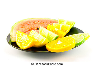 Watermelon with Citrus Wedges and Slices