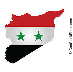 Syrian Flag - Flag of Syria and Syrian opposition overlaid...