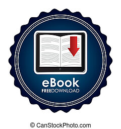 ebook icon - ebook graphic design  ,vector illustration