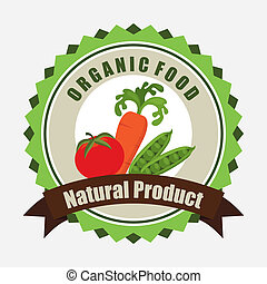 organic food label ,vector illustration