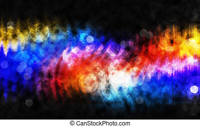 Abstract bokeh on black background