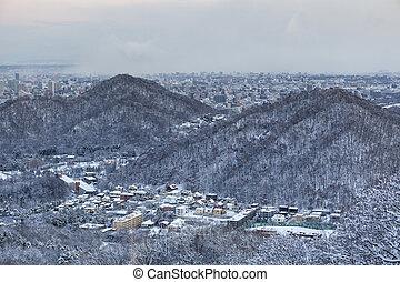 Sapporo city - View of Sapporo city in winter