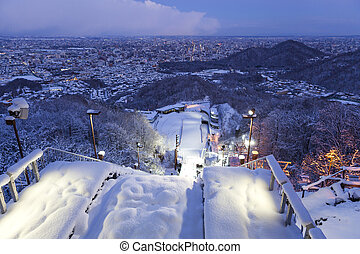 ski jump - View twilight time on top of ski jump in Sapporo...