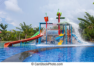 water park for kid at the day time