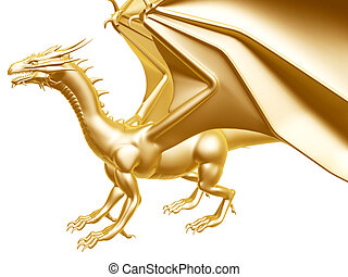 golden fire dragon