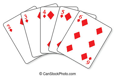 Straight Flush - A straight flush in a hand of cards