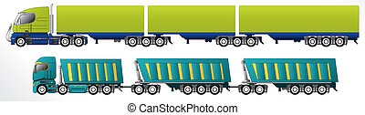 B triple road train trailer setups for cargo hauling