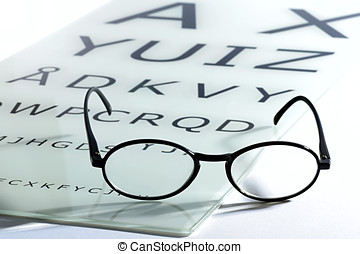 Concept of vision and eyesight with an old vintage pair of...