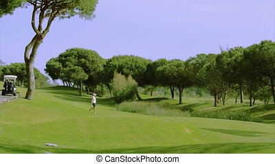 Algarve Golf Tee Shot B 5x - Golf tee shot, in Algarve...