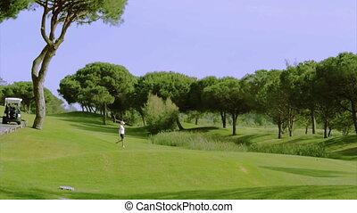 Algarve Golf Tee Shot B 5x - Golf tee shot, in Algarve...