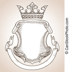 Coat of Arms - Hand-drawn, highly detailed Coat of Arms...