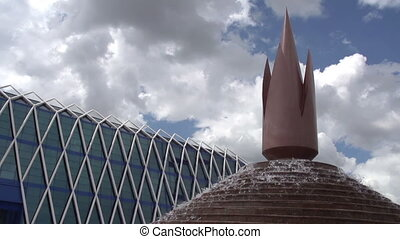 Futuristic Architecture Astana - Architectural elements of...