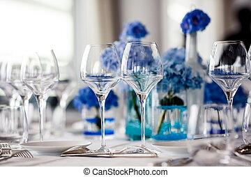 桌子, 婚禮, 确定, 餐館