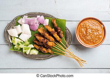 Malay chicken satay