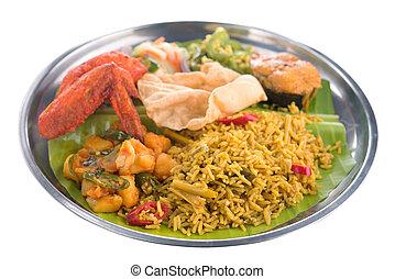 Indian biryani rice isolated