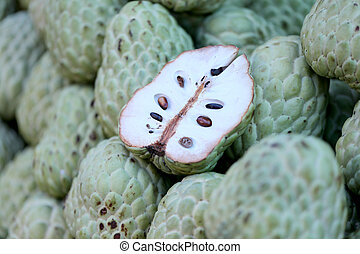 Fresh Annona fruit. - Fresh Annona fruit in the foods...