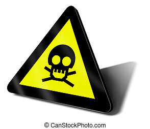 warning sign danger death illustration