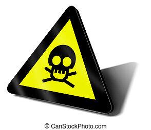 warning sign danger death illustration