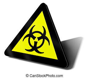 warning sign bio hazard danger illustration